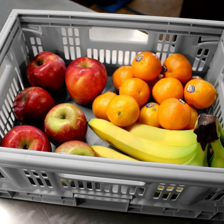 Fruit being carried in a CleverCrate® Pro-Grade