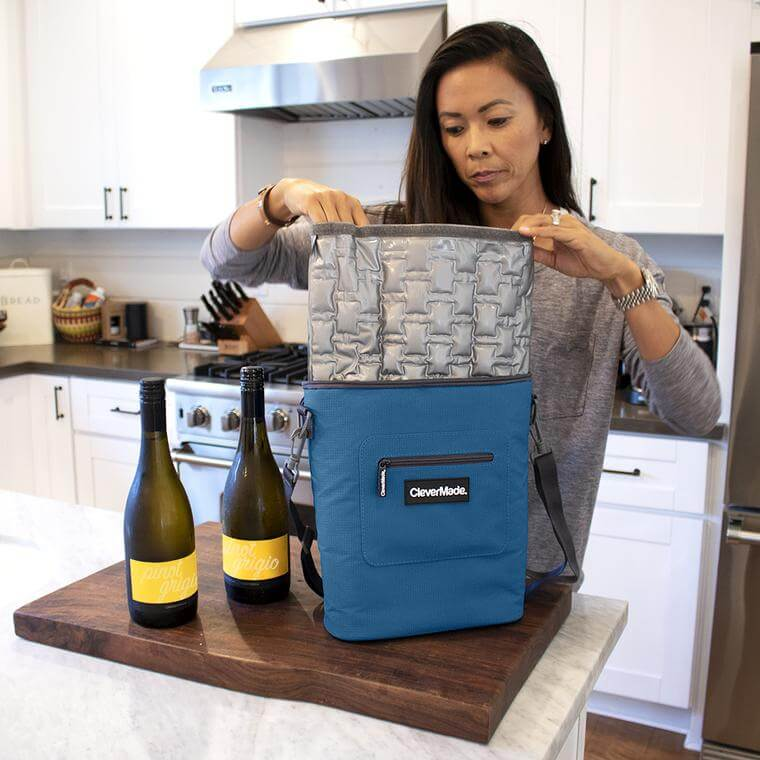 Woman packing Wine Cooler