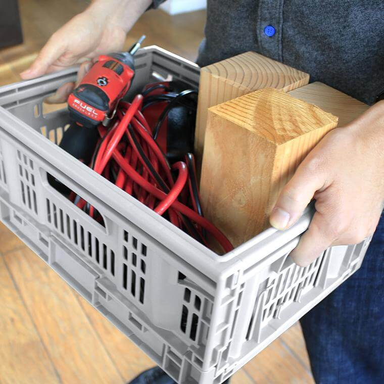 Tools being carried in a CleverCrate® Pro-Grade