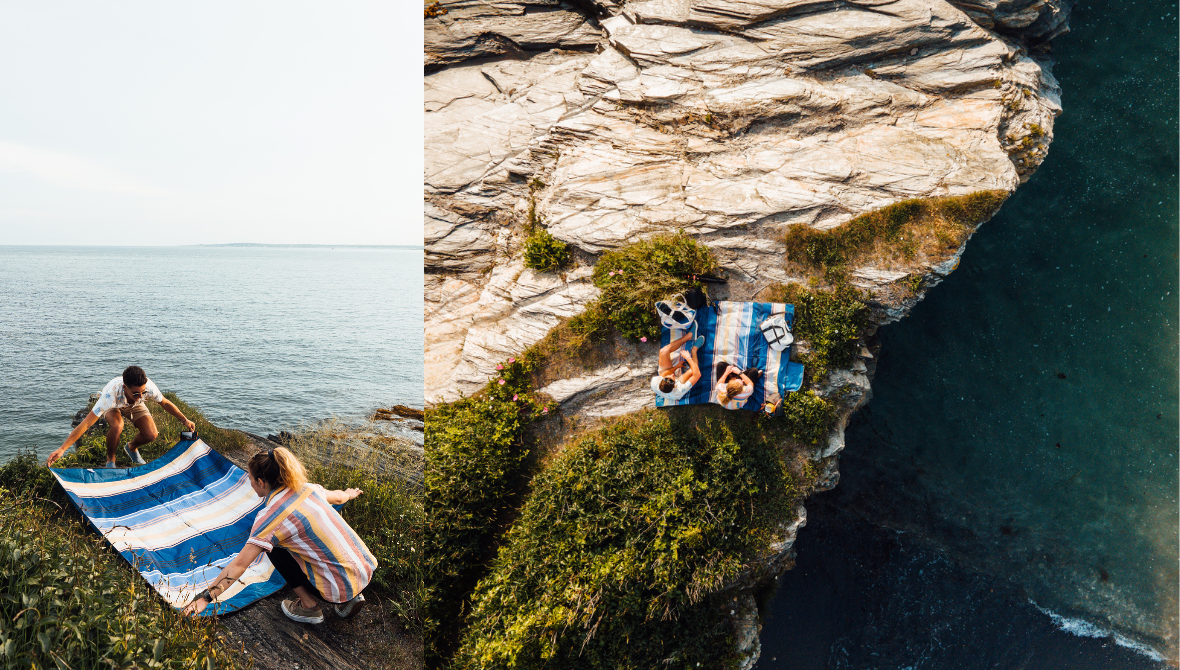Pack & Go Blanket Picnic on a Cliff