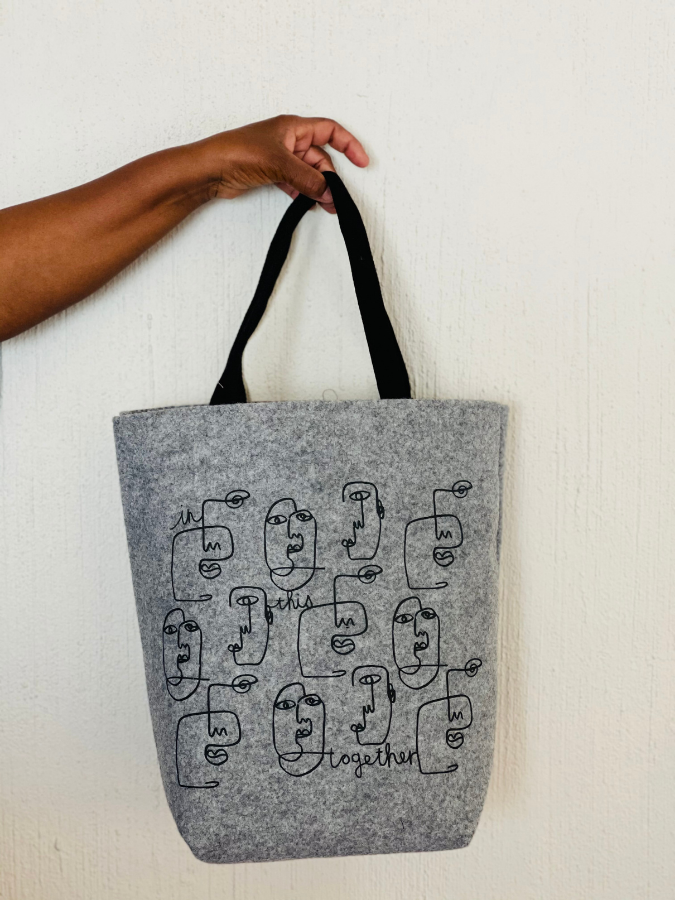 """In this together"" felt shopper"