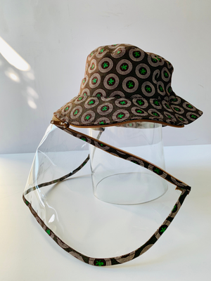 Kiddies Shwe Shwe bucket Hat with Detachable Face Shield