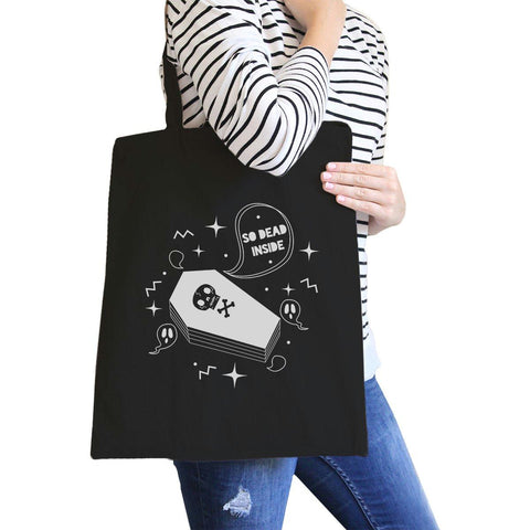 Image of So Dead Inside Coffin Black Canvas Bags