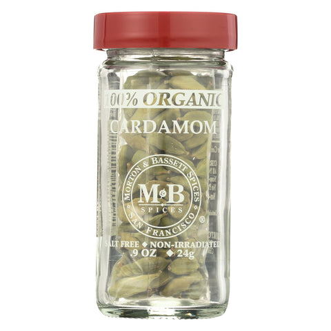 Image of Morton And Bassett 100% Organic Seasoning - Cardamom - .9 Oz - Case Of 3