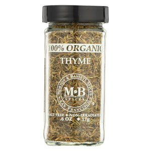 Morton And Bassett Thyme - Organic - Thyme - Case Of 3 - 0.9 Oz.