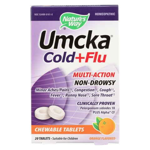 Image of Nature's Way Umcka Cold & Flu Orange Chewable - 20 Count
