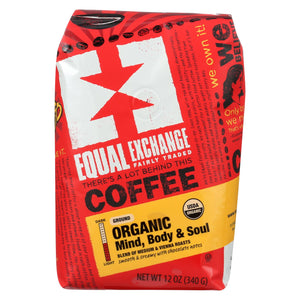 Equal Exchange Organic Drip Coffee - Mind Body And Soul - Case Of 6 - 12 Oz.