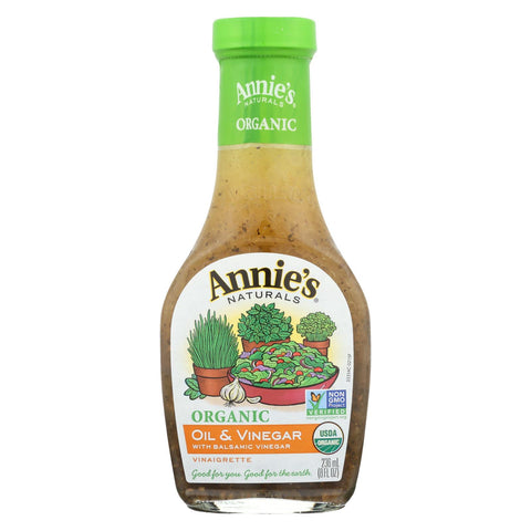 Image of Annie's Naturals Vinaigrette Organic Oil And Vinegar - Case Of 6 - 8 Fl Oz.
