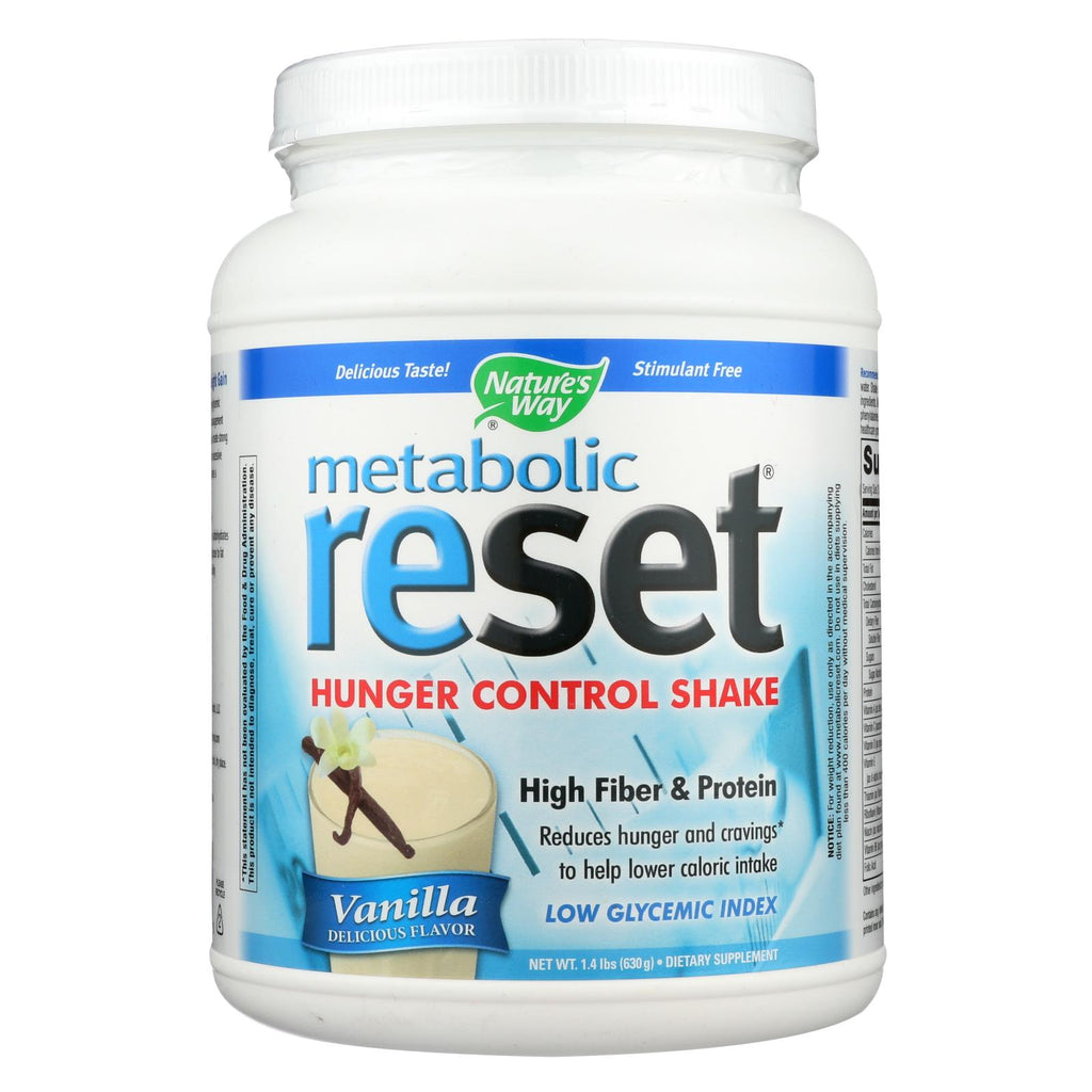 Nature's Way Metabolic Reset Shake Mix Vanilla - 1.4 Lbs
