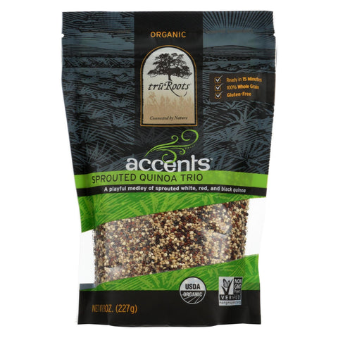 Truroots Organic Trio Quinoa - Accents Sprouted - Case Of 6 - 8 Oz.