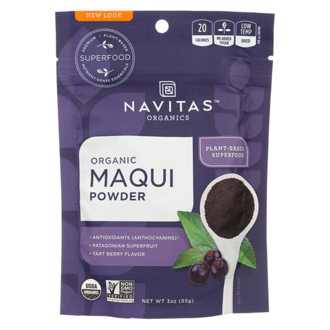 Image of Navitas Naturals Maqui Powder - Organic - Freeze-dried - 3 Oz - Case Of 6