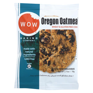 Wow Baking Cookie - Oregon Oatmeal - Case Of 12 - 2.75 Oz.