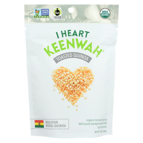 I Heart Keenwah Quinoa - Toasted - Case Of 6 - 12 Oz
