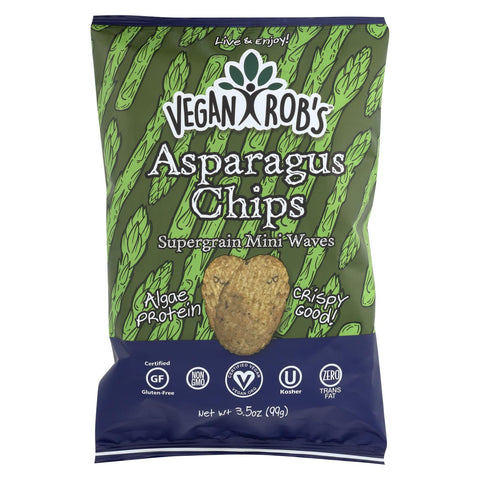 Image of Vegan Rob's Supergrain Mini Waves Chips - Asparagus - Case Of 12 - 3.5 Oz