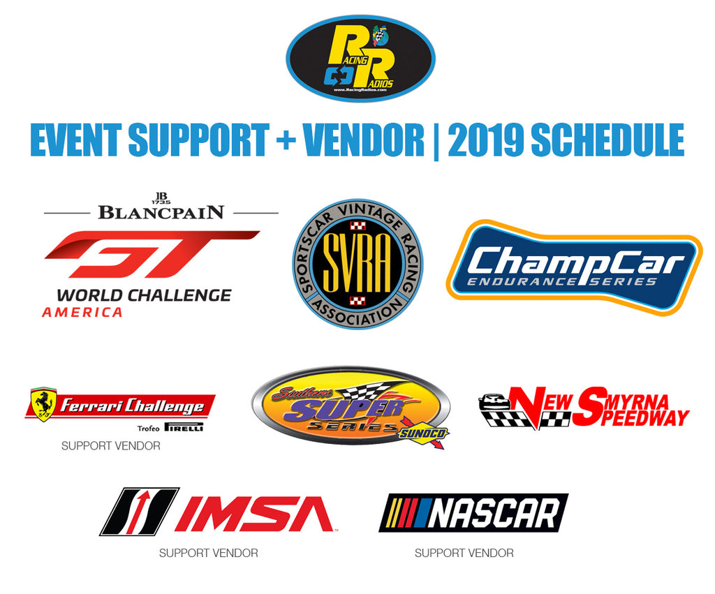 Racing Radios 2019 Event Support Schedule Release