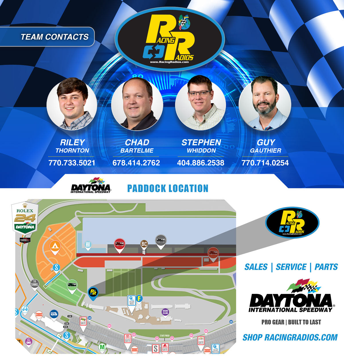 Daytona Roar Before The Rolex 24 | Racing Radios Paddock Location | Daytona