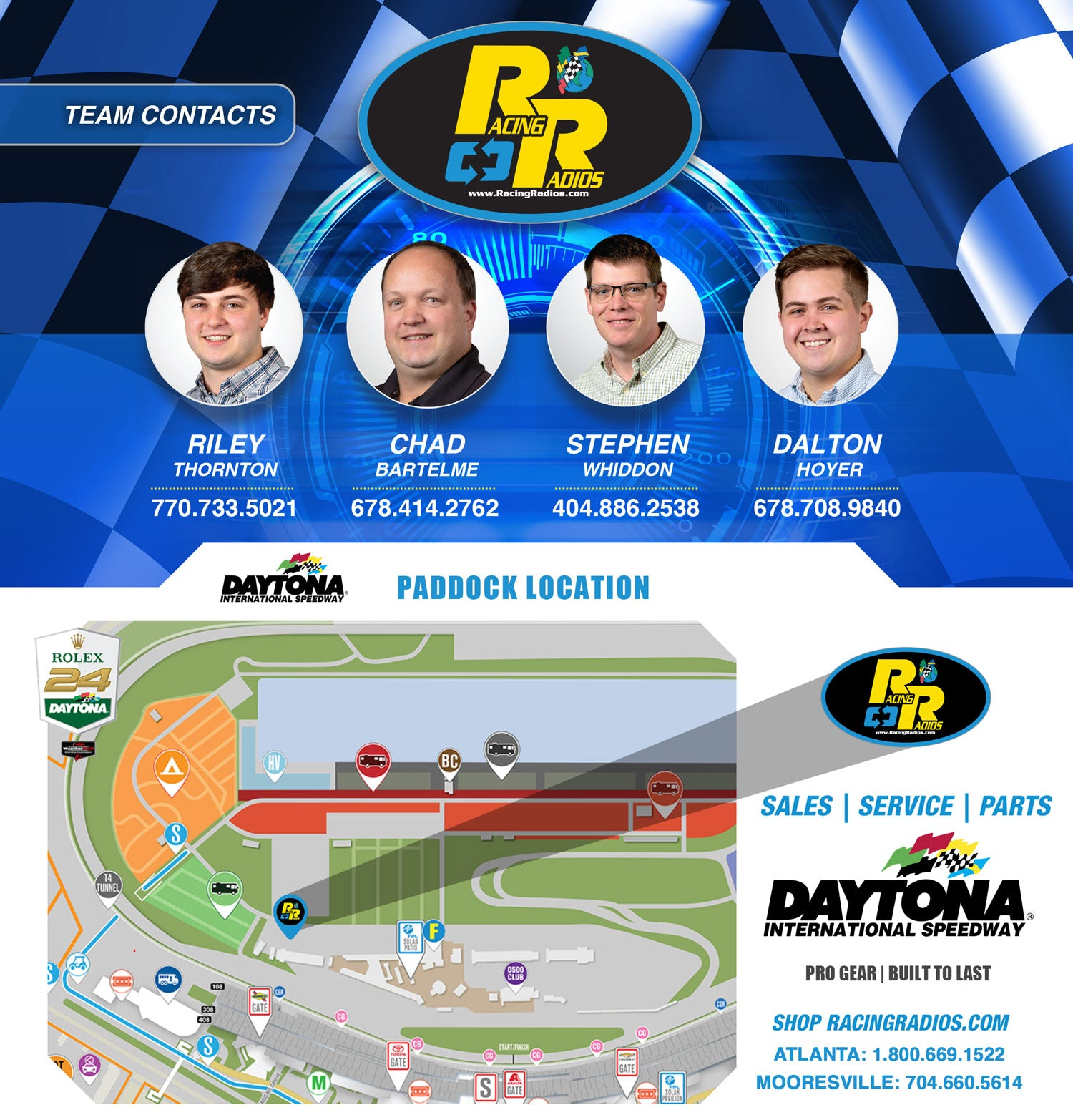 Rolex 24 Racing Radios Vendor Sales & Support | The Leader In Racing Radio Two-Way Communication
