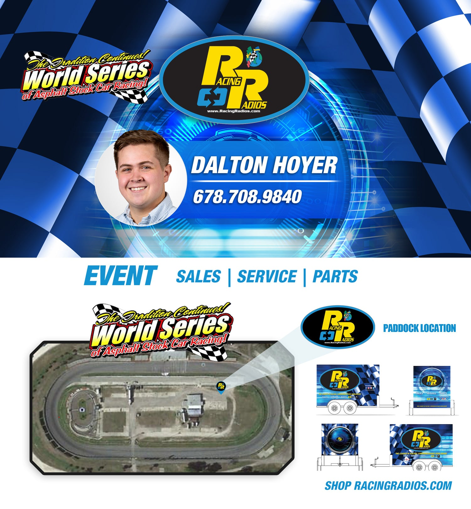 Racing Radios Paddock Support New Smyrna Speedway | World Series of Asphalt Stock Car Racing