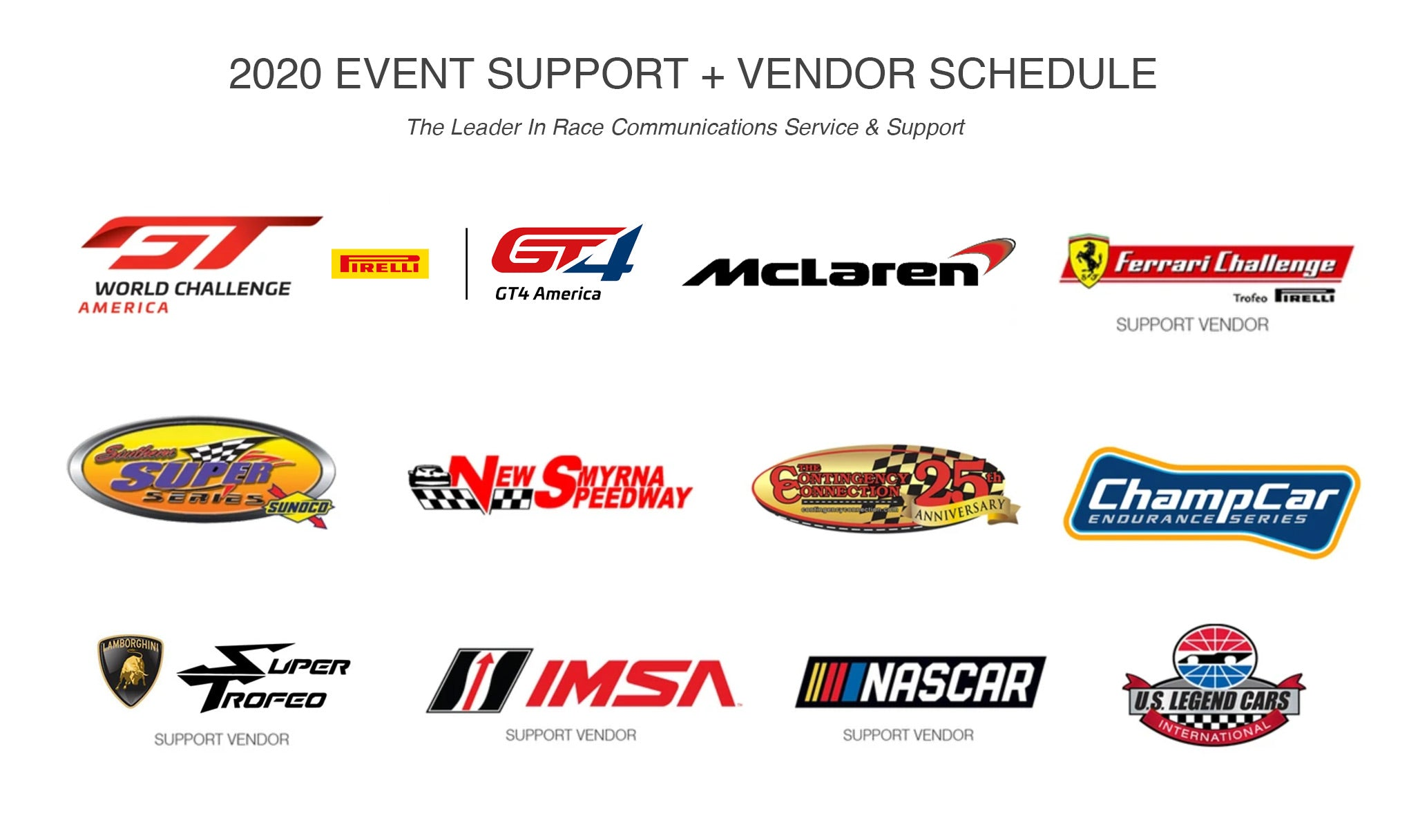 2020 Racing Radios Support Events | The Leader In Race Team Support
