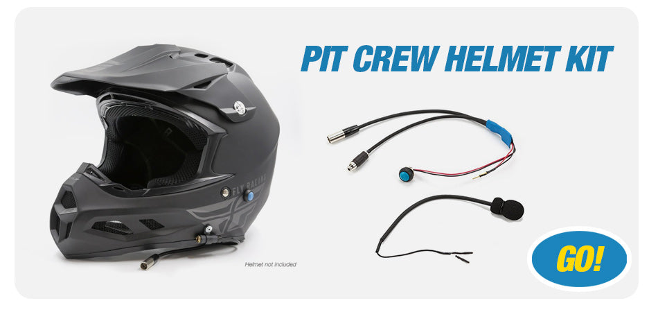 Racing Radios Pro Pit Crew Helmet Kit | Pro Install Available