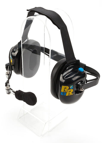 Racing Radios Black Two-Way Headset