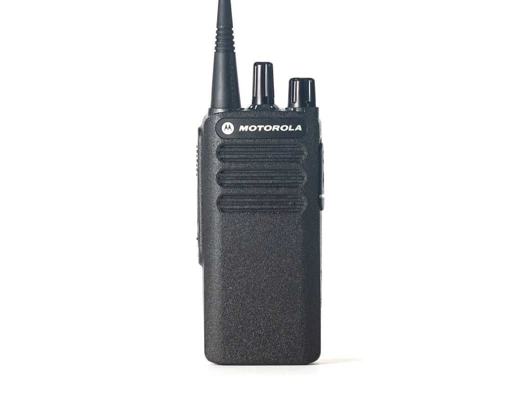 Motorola CP100D Two-Way Radio Close Up | Racing Radios