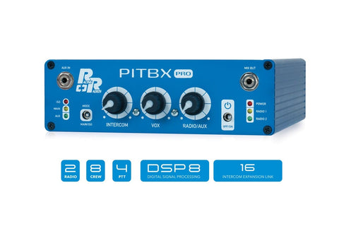 PITBX Pro 8 Person Pit Box Intercom | Racing Radios