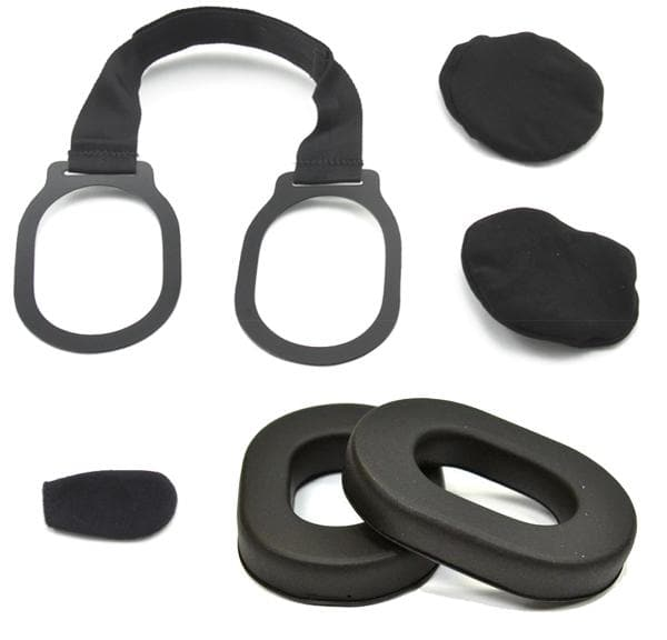 RRH-REBUILD Headset Kit: Includes Strap, Cloth Covers, Ear Foams, Mic Sock