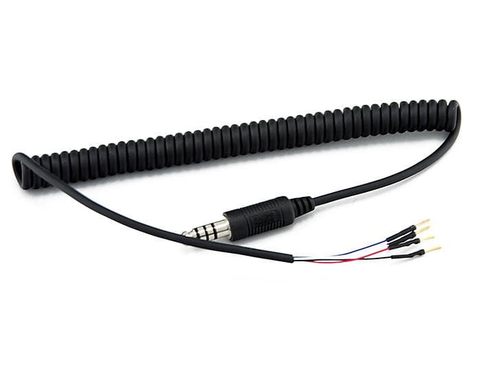 Standard Length 4/C (IMSA Wiring) coiled helmet cable.