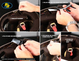 How to Install The New Driver Helmet Kit Velcro Mounting Tab | Racing Radios