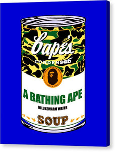 Bape Soup - Canvas Print (Blue)