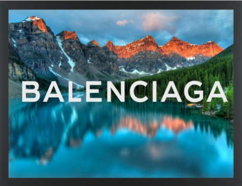 Balenciaga Mountains Canvas Print - 30