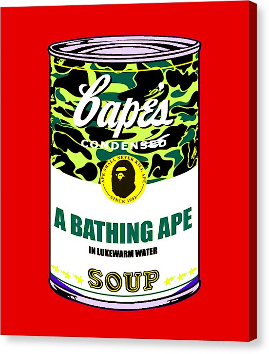 Bape Soup - Canvas Print (Red)