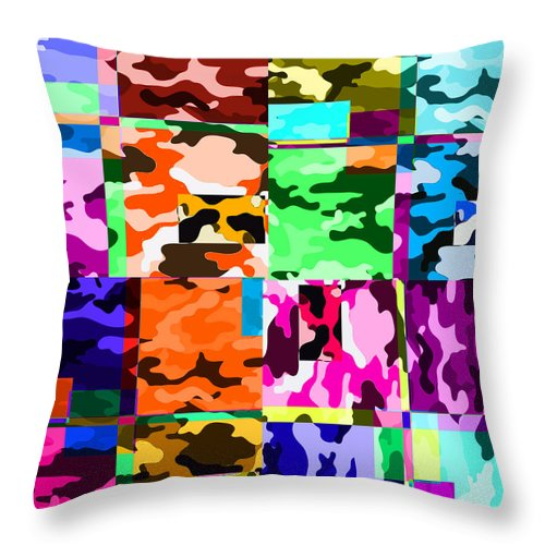 Camo Confusion - Throw Pillow