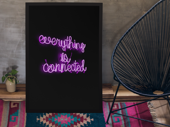 Everything Is Connected - Canvas Print