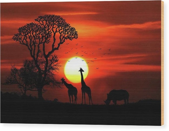 Safari - Wood Print