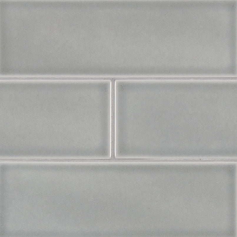 Morning Fog Handcrafted 4x12 Glossy Subway Tile Bombay Tile