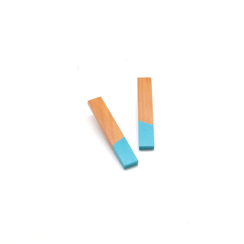 Earring - Column - Light Turquoise