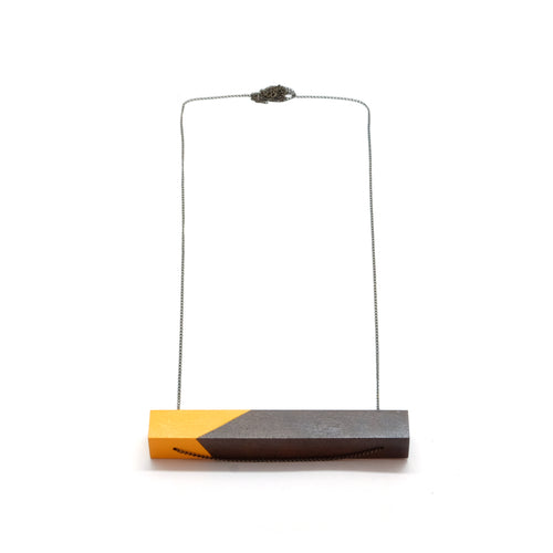 Necklace - Yellow Bar