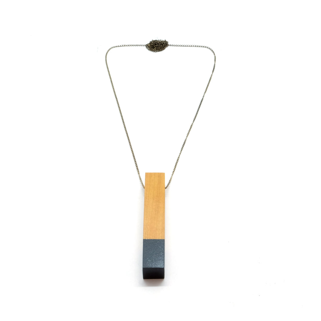 Necklace - Column Black