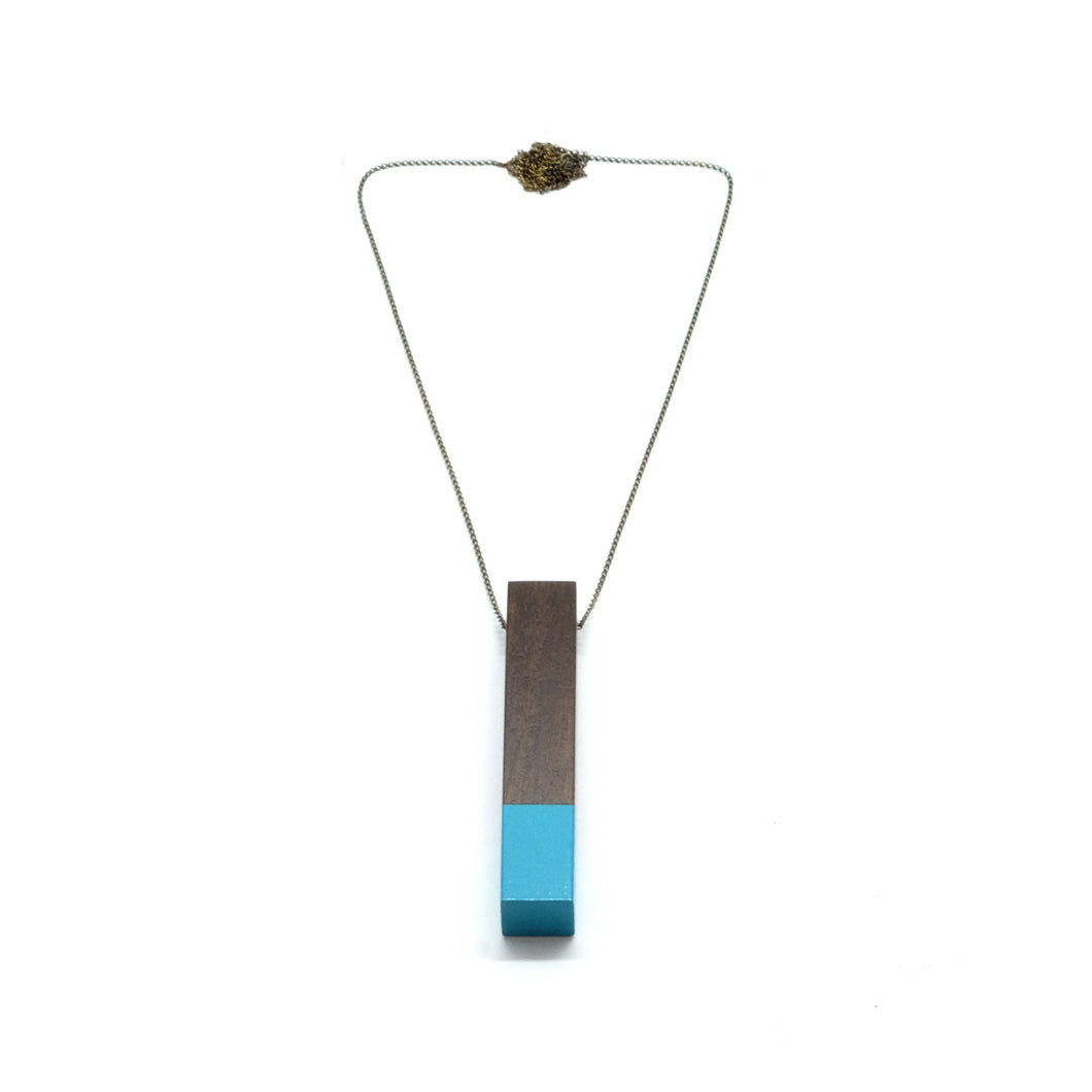 Necklace - Column Light Turquoise
