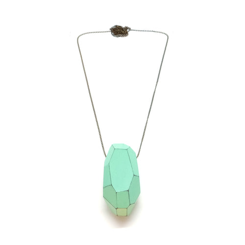Necklace - Faceted Acqua