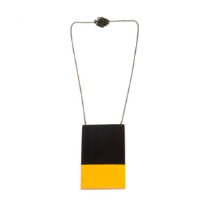 Necklace - Dipped Yellow Plate