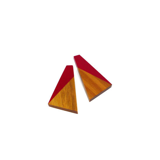 Earring - Dipped Red