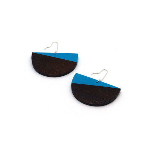 Earring - Half Moon Light Turquoise