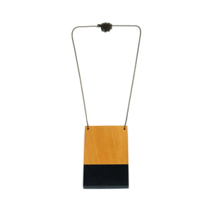 Necklace - Dipped Black Plate