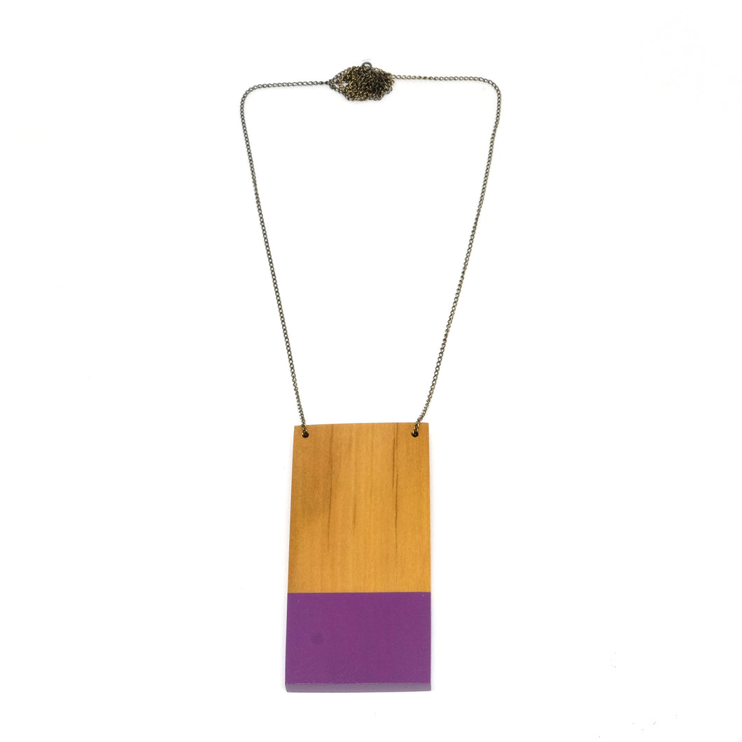 Necklace - Dipped Violet Plate