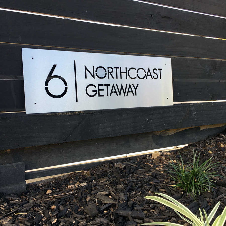 Metal custom address sign NZ