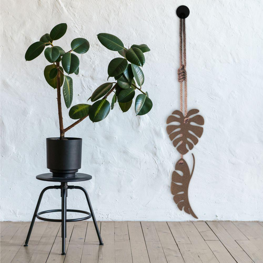 Corten steel garden art monstera leaves