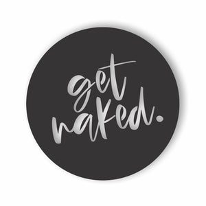 Get Naked bathroom wall art circle NZ made